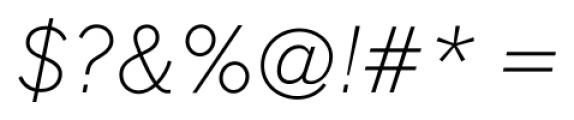 FullerSansDT ExtraLightItalic Font OTHER CHARS