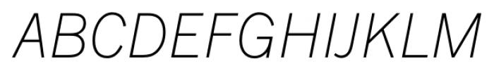 FullerSansDT ExtraLightItalic Font UPPERCASE