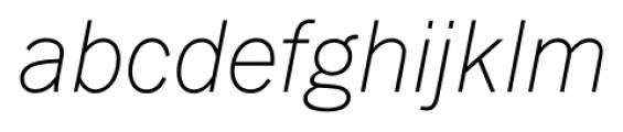 FullerSansDT ExtraLightItalic Font LOWERCASE
