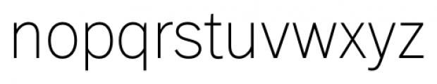 FullerSansDT ExtraLight Font LOWERCASE