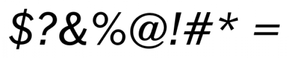 FullerSansDT Italic Font OTHER CHARS