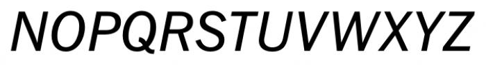 FullerSansDT Italic Font UPPERCASE