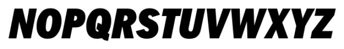 FullerSansDTCond Black Italic Font UPPERCASE