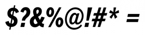 FullerSansDTCond Bold Italic Font OTHER CHARS