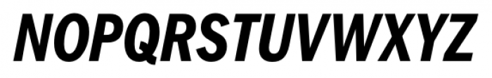 FullerSansDTCond Bold Italic Font UPPERCASE
