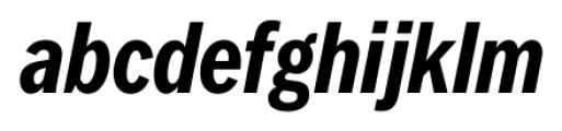 FullerSansDTCond Bold Italic Font LOWERCASE