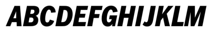 FullerSansDTCond Extra Bold Italic Font UPPERCASE
