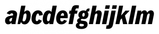 FullerSansDTCond Extra Bold Italic Font LOWERCASE