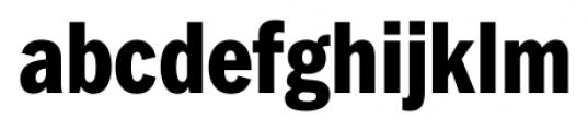 FullerSansDTCond Extra Bold Font LOWERCASE