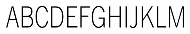 FullerSansDTCond ExtraLight Font UPPERCASE