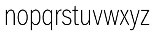 FullerSansDTCond ExtraLight Font LOWERCASE