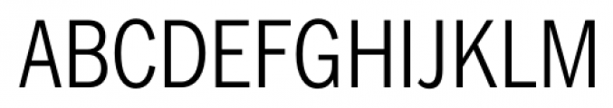 FullerSansDTCond Light Font UPPERCASE