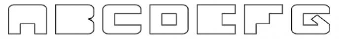 Fugues Solid Outline Font UPPERCASE