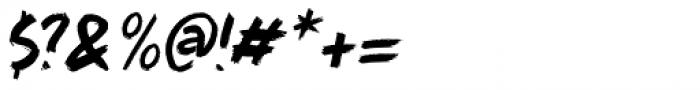 Full Blast Italic I Font OTHER CHARS