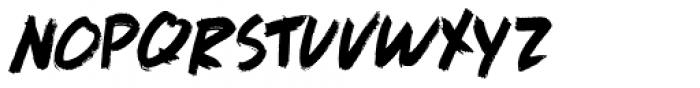 Full Blast Italic I Font UPPERCASE