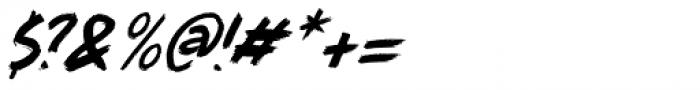 Full Blast Italic II Font OTHER CHARS