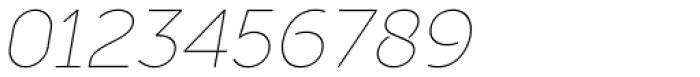 Full Sans LC 10 Thin Italic Font OTHER CHARS