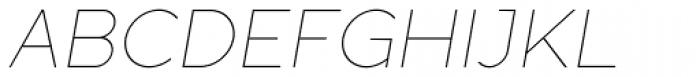 Full Sans LC 10 Thin Italic Font UPPERCASE