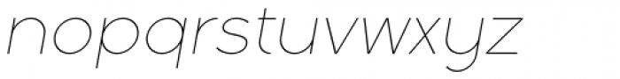 Full Sans LC 10 Thin Italic Font LOWERCASE