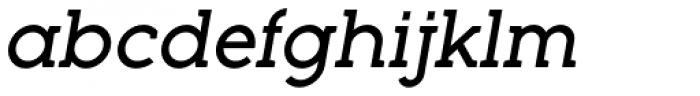 Full Slab LC 70 Medium Italic Font LOWERCASE