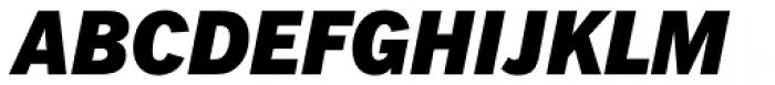 Fuller Sans DT Black Italic Font UPPERCASE