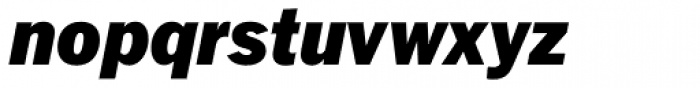 Fuller Sans DT Black Italic Font LOWERCASE