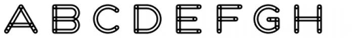 Fun City Level 2 Frame Font LOWERCASE