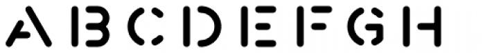 Fun City Level 2 Stencil Font LOWERCASE