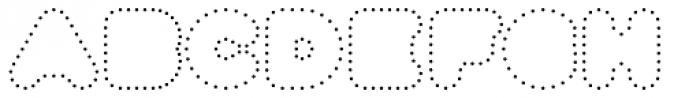 Fun City Level 5 Dots Font UPPERCASE