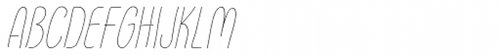 FunFair Thin Italic Font UPPERCASE