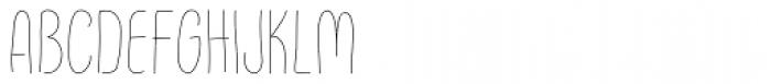 FunFair Thin Font UPPERCASE