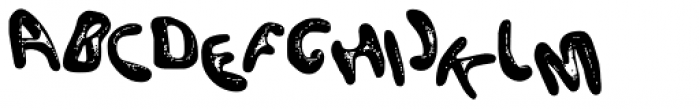 Funky Fat Jiggly PW Font UPPERCASE