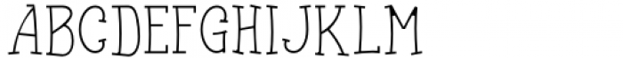 Funyärd College Thin Font UPPERCASE