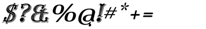 Furius Title Italic Font OTHER CHARS