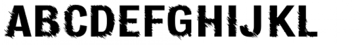 Furrow Regular Font UPPERCASE