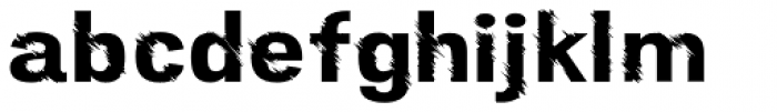 Furrow Regular Font LOWERCASE