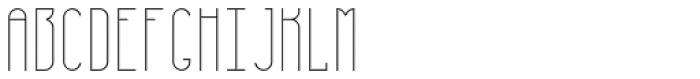 Furunkel Filling Thin Font UPPERCASE