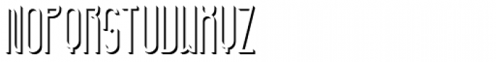 Furunkel Shadow Right Font LOWERCASE