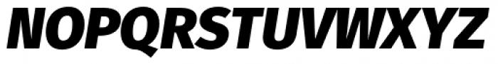 Fuse Black Italic Font UPPERCASE