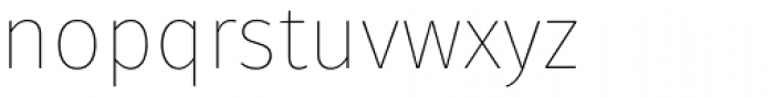 Fuse Thin Font LOWERCASE