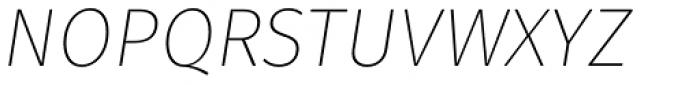 Fuse V.2 Display Ultra Light Italic Font UPPERCASE