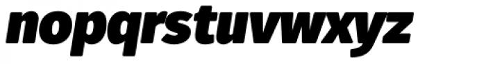Fuse V.2 Text Ultra Black Italic Font LOWERCASE
