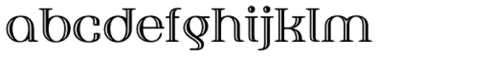 Fusion Engraved Font LOWERCASE