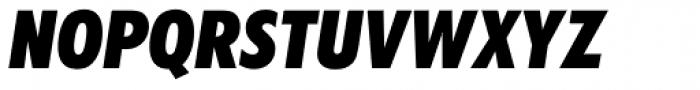 Futura BQ ExtraBold Condensed Oblique Font UPPERCASE