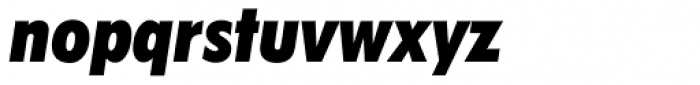 Futura BQ ExtraBold Condensed Oblique Font LOWERCASE