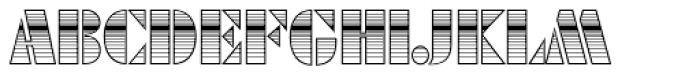 Futura Black Art Deco Horizont D Font UPPERCASE