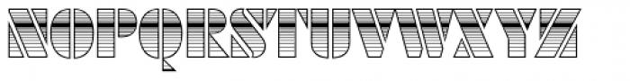 Futura Black Art Deco Horizont D Font LOWERCASE