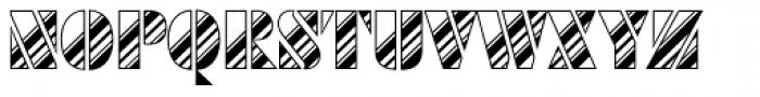Futura Black Art Deco Stripes Dia D Font UPPERCASE
