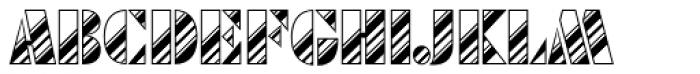 Futura Black Art Deco Stripes Dia D Font LOWERCASE