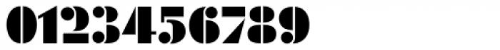 Futura Black Stencil D Font OTHER CHARS